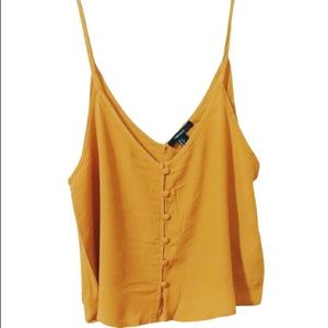 FOREVER 21 • Button Up Tank in Mustard Yellow